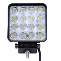 phare carré led 16 x3w  48w 12v24v